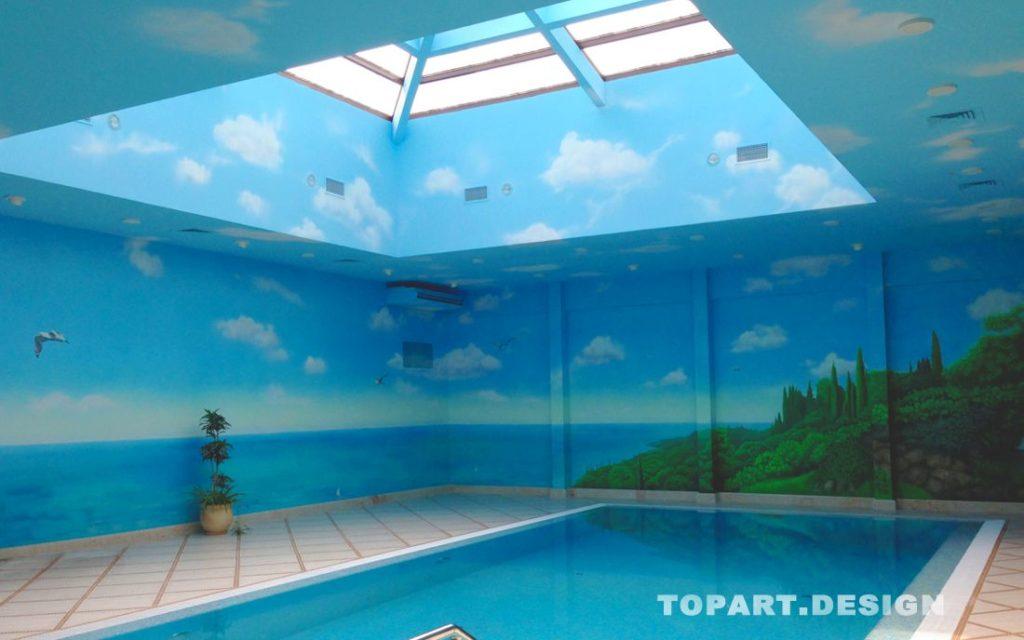 художественная роспись бассейнов сочи