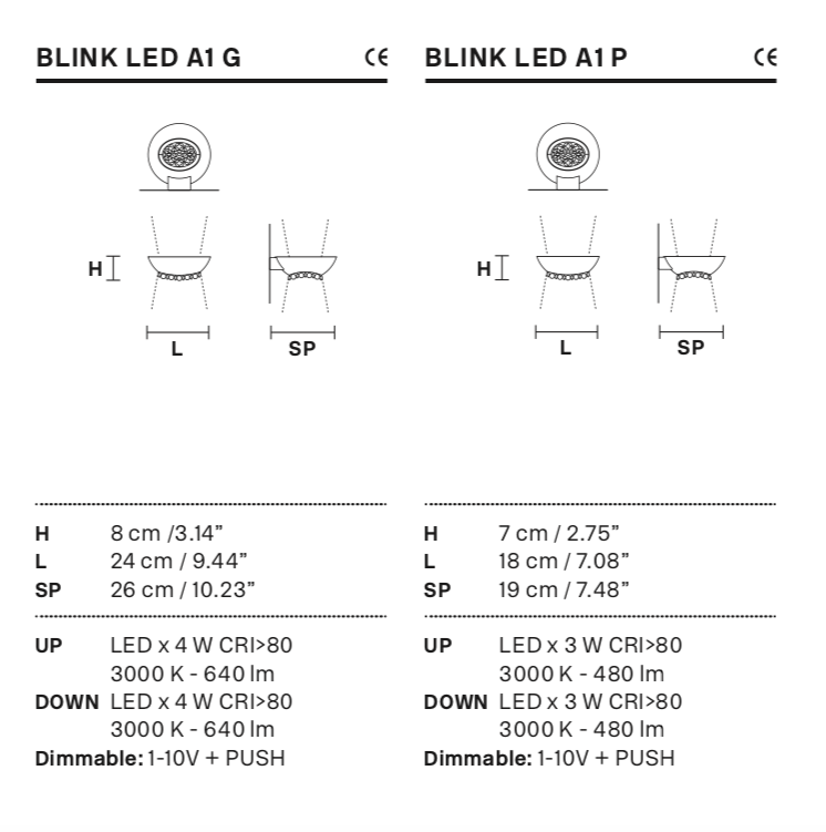 купить бра BLINK LED A1 masiero в сочи