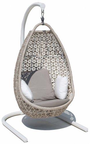 Кресло подвесное плетеное с подушками Journey