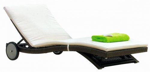Шезлонг-лежак плетеный с матрасом Sophie