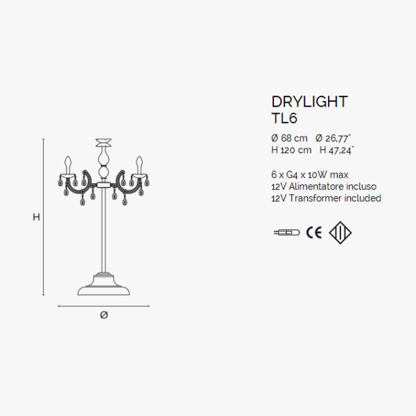 уличный торшер DRYLIGHT Masiero