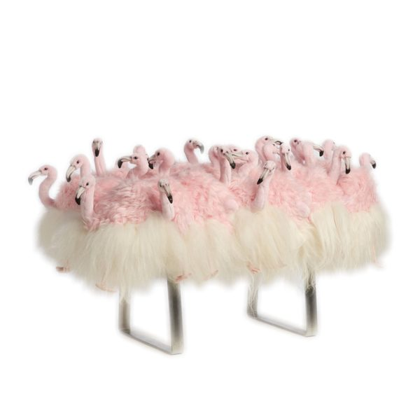 AP Collection MINI FLAMINGO BENCH