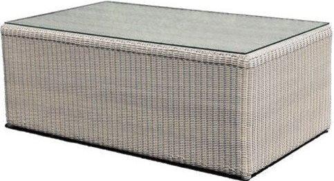 Столик плетеный со стеклом журнальный Calderan