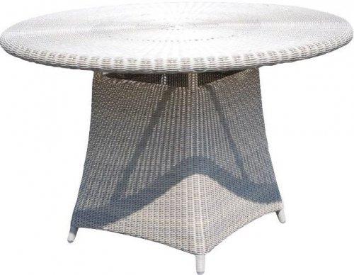 Стол плетеный со стеклом Calderan