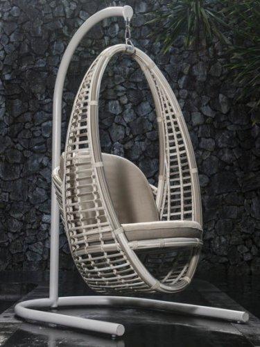 Кресло подвесное плетеное с подушками Heri