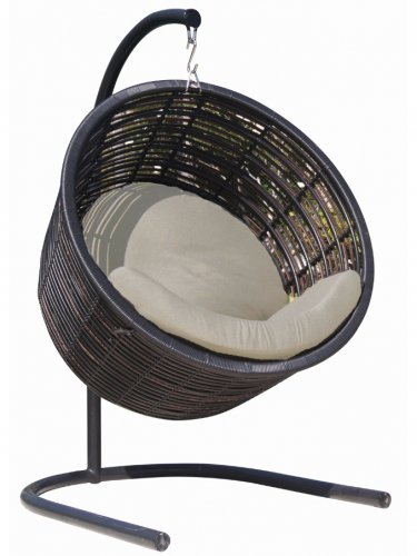 Кресло плетеное подвесное с подушками Mercy