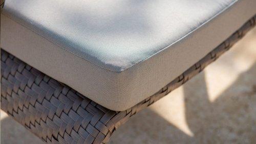 Банкетка плетеная с подушкой Journey skyline