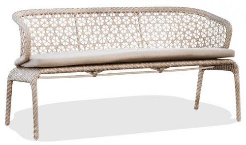 Скамейка плетеная с подушкой Journey