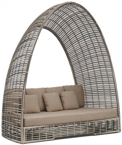 Лаунж-диван плетеный с подушками с подушками Surabaya
