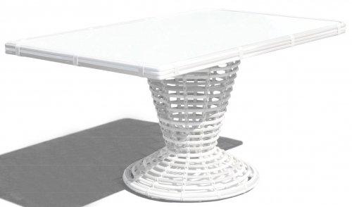 столик обеденный со стеклом SPARTAN
