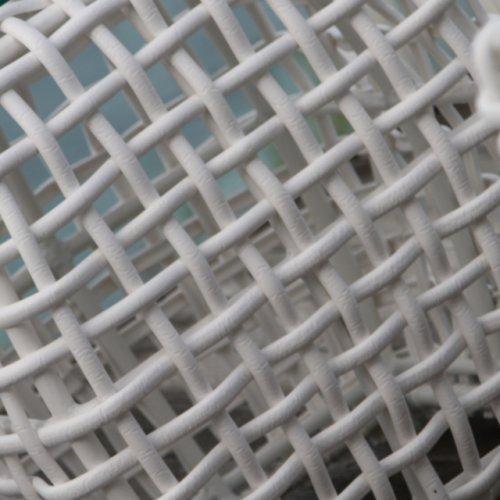 Столик плетеный со стеклом журнальный Sunday